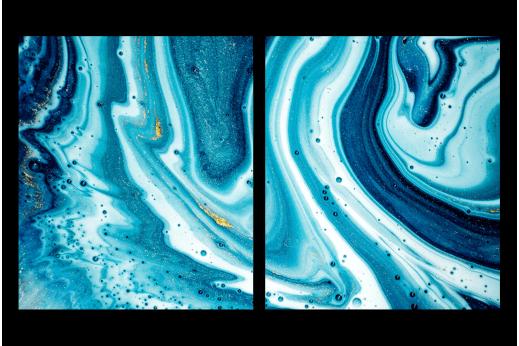 Модульная картина Голубые разводы