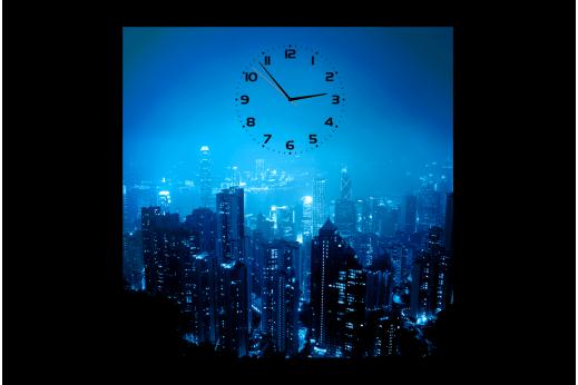 Картина-часы Ночной город